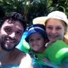 Эдмар с Филиппом и Татьяной на отдыхе в Бразилии